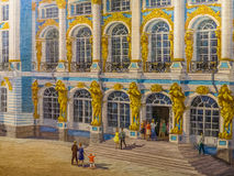 Painting of Catherine Palace in Pushkin Royalty Free Stock Photo