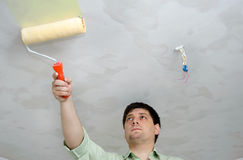 Painting the ceiling Royalty Free Stock Image