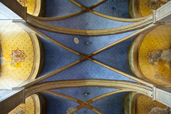 Painting  Ceiling. In Catholic Church in the French city of Ales Royalty Free Stock Photos