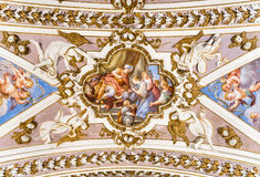 Painting on the ceiling in Sanctuary of Santa Maria del Monte. Painting on the ceiling in Sanctuary of Santa Maria del Monte of Varese, Italy Royalty Free Stock Photography