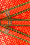 Painting the ceiling thai temple Royalty Free Stock Photo