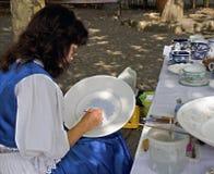 Painting ceramics Stock Photo