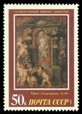 Painting Ceres by Rubens. USSR - stamp 1987: Color edition on European Art, Shows Painting Ceres by Rubens Stock Photos
