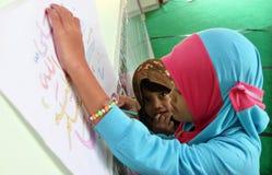 Painting Challigaphy Stock Photo