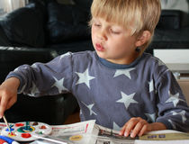 Painting child Royalty Free Stock Image