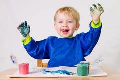 Painting child stock photo