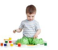 Painting child boy stock image