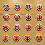 The painting chinese monkey-faced masks Stock Photo