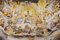 Painting in church, Cividale del Friuli Royalty Free Stock Images