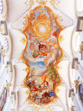 Painting on the Church's Ceiling. Painting of the Andechs Church's Ceiling royalty free stock photo