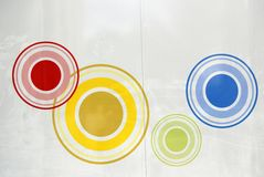 Painting of circles royalty free stock photos
