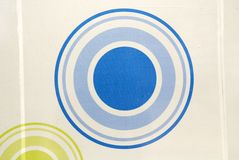 Painting of circles royalty free stock image