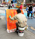 Painting the city. Royalty Free Stock Image