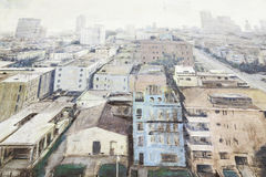 Painting of a city Royalty Free Stock Image