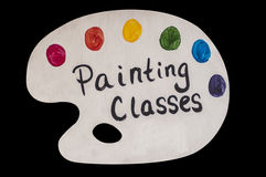 Painting Class Advertisement Stock Photos