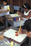 Painting class, Brazil. Stock Image