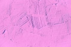 Painting close up of light pink, fuchsia, color. Stock Photo