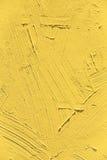 Painting close up of vivid primrose yellow pantone color Royalty Free Stock Photos