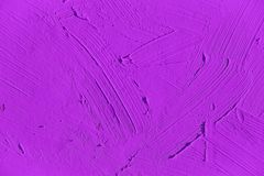 Painting close up of vivid purple color Royalty Free Stock Photo