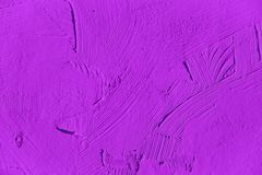 Painting close up of vivid purple color Stock Photos
