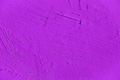 Painting close up of vivid purple color Royalty Free Stock Photography