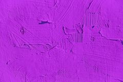 Painting close up of vivid purple color Royalty Free Stock Images