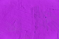 Painting close up of vivid purple color Stock Photography