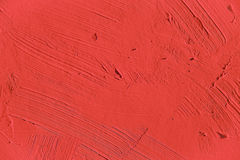 Painting close up of vivid red color royalty free stock photos
