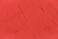 Painting close up of vivid red color Stock Photography