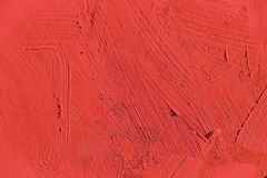 Painting close up of vivid red color Royalty Free Stock Photography