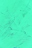 Painting close up of vivid turquoise light green color Royalty Free Stock Photography