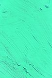 Painting close up of vivid turquoise light green color Royalty Free Stock Photo