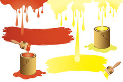 Painting color and brush Royalty Free Stock Photo