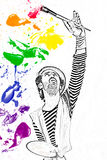 Painting the color spectrum Stock Photography