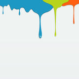 Painting colorful dripping vector Royalty Free Stock Photo