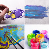 Painting colors collage Royalty Free Stock Image