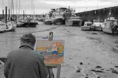 Painting in the colours Royalty Free Stock Photo