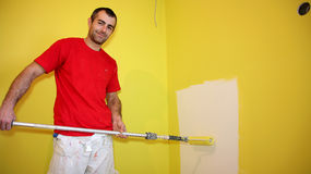 Painting Contractor at Work Royalty Free Stock Images