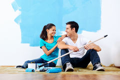 Painting couple Stock Photos
