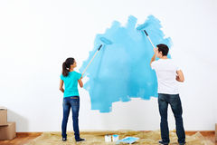 Painting couple Royalty Free Stock Image