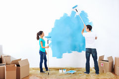 Painting couple Stock Photo