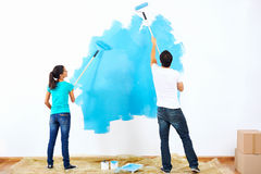 Painting couple Royalty Free Stock Photo