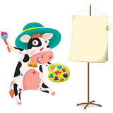 A painting cow Stock Image