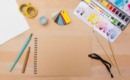 Painting and craft supplies Royalty Free Stock Images