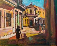 Painting of Cuba Havana Royalty Free Stock Images