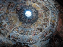 Painting in Cupola of Florence Cathedral Royalty Free Stock Photos