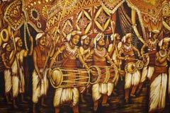 Painting at Dambulla Golden Temple, Sri Lanka. Image of Buddhism inspired cloth painting at UNESCO's World Heritage site of Dambulla Golden Temple, Sri Lanka Royalty Free Stock Photography
