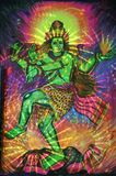 Painting of dancing shiva stock illustration