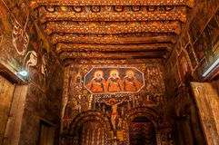 Painting in Debre Birhan Selassie Church ,Gondar Stock Image