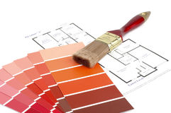 Painting and Decorating. Supplies required to paint a house Royalty Free Stock Photography